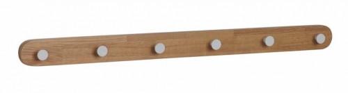 Prírodný dubový vešiak so 6 háčikmi Rowico Gorgona