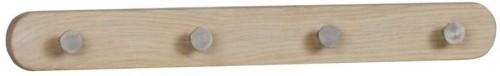 Svetlý dubový vešiak so 4 háčikmi Rowico Gorgona