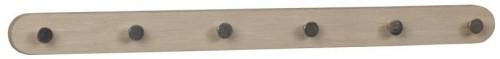 Svetlý dubový vešiak so 6 háčikmi Rowico Gorgona