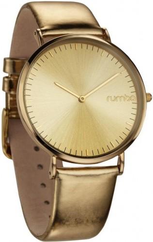 Kožené zlaté hodinky Rumbatime Orchard Smoke