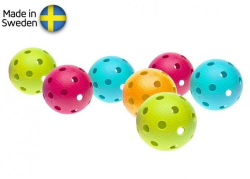 Sada florbalových loptičiek Salming Aero Ball 10-pack, colour mix