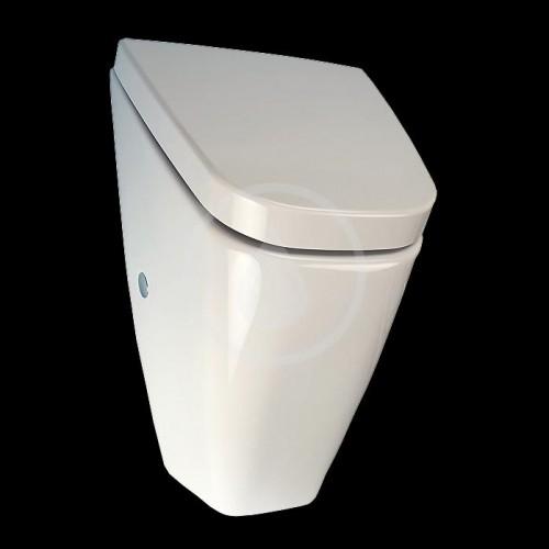 SANELA - Senzorové pisoáry Pisoár VILA s radarovým splachovačom a integrovaným zdrojom, s poklopom (SLP 37RZ)
