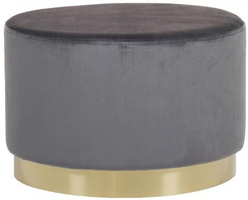 Sivý puf so zamatovým poťahom Santago Pons Golden