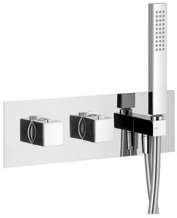 SAPHO - DIMY podomietková sprchová termostatická batéria, kompletná, 2 výstupy, chróm (DM493)
