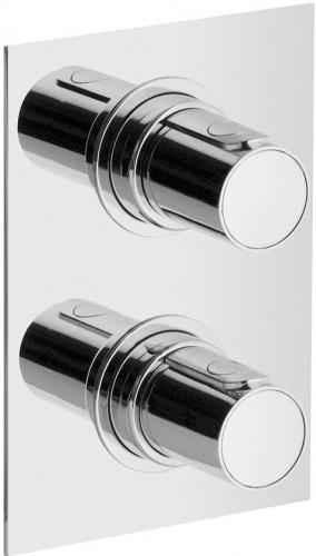 SAPHO - GLAM podomietková sprchová termostatická batéria, 2 výstupy, chróm (GL78163)