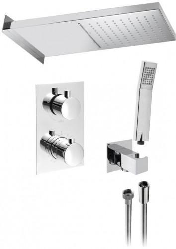 SAPHO SAPHO - KIMURA podomietkový sprchový set s termostatickou batériou, 3 výstupy, chróm (KU392-01)