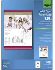 Papier do atramentovej tlačiarne Sigel Inkjet Paper Professional, IP182 A4, 50 listov