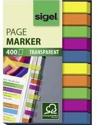 Samolepiace záložky - prúžky Sigel HN617, (š x v) 50 mm x 6 mm, 400 listov