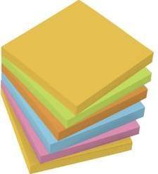 Samolepiaci blok Sigel MU120, (š x v) 75 mm x 75 mm, žltá, zelená, oranžová, modrá, ružová, 100 listov