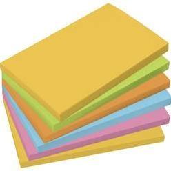 Samolepiaci blok Sigel MU121, (š x v) 125 mm x 75 mm, žltá, zelená, oranžová, modrá, ružová, 100 listov