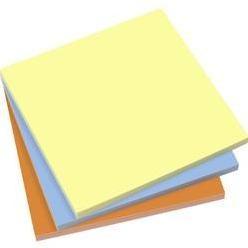 Samolepiaci blok Sigel MU131, (š x v) 100 mm x 100 mm, žltá, modrá, oranžová, 300 listov
