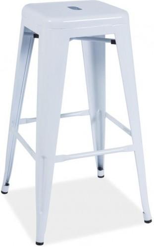 >> LANG barová stolička, biela