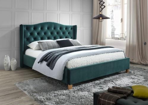 Signal Manželská posteľ Aspen Velvet Farba: Zelená