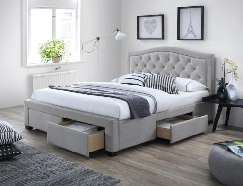 Signal Manželská posteľ Electra Farba: Sivá