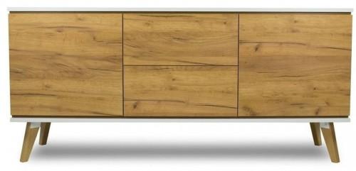 Dvojdverová komoda v dekore dreva s 2zásuvkami SKANDICA Jorgen