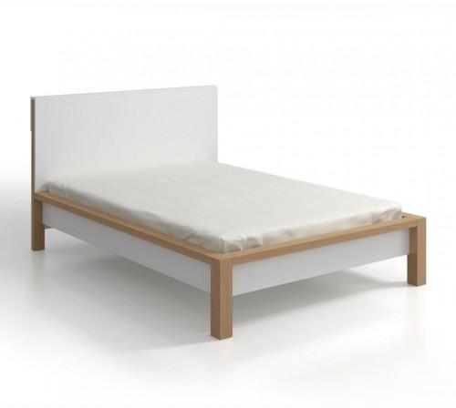 Dvojlôžková posteľ z borovicového dreva s úložným priestorom SKANDICA InBig, 140×200cm