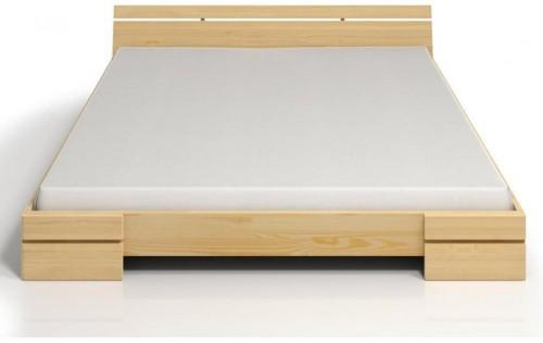 Dvojlôžková posteľ z borovicového dreva s úložným priestorom SKANDICA Sparta Maxi, 180×200cm