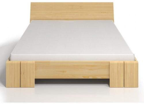 Dvojlôžková posteľ z borovicového dreva s úložným priestorom SKANDICA Vestre Maxi, 140×200cm