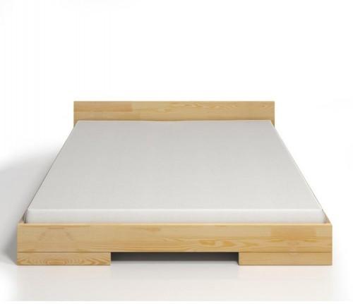 Dvojlôžková posteľ z borovicového dreva Skandica Spectrum, 140×200cm