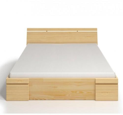 Dvojlôžková posteľ z borovicového dreva so zásuvkou SKANDICA Sparta Maxi, 160×200cm