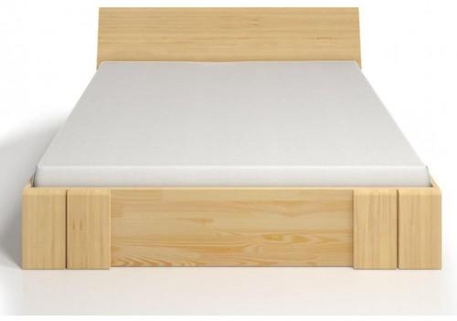 Dvojlôžková posteľ z borovicového dreva so zásuvkou SKANDICA Vestre Maxi, 160×200cm