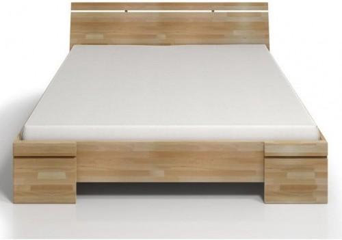 Dvojlôžková posteľ z bukového dreva s úložným priestorom Skandica Sparta Maxi, 180×200cm