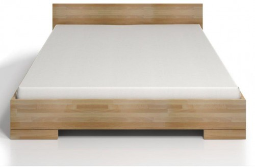 Dvojlôžková posteľ z bukového dreva s úložným priestorom SKANDICA Spectrum Maxi, 140×200cm