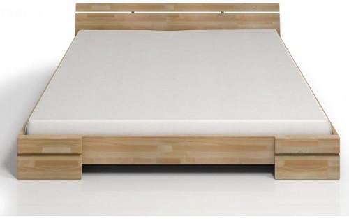 Dvojlôžková posteľ z bukového dreva Skandica Sparta, 140×200cm
