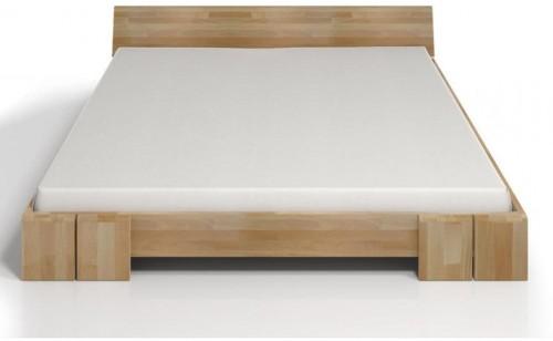Dvojlôžková posteľ z bukového dreva Skandica Vestre, 200×200cm