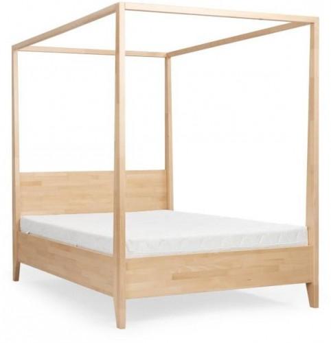 Dvojlôžková posteľ z masívneho bukového dreva SKANDICA Canopy, 180 x 200 cm
