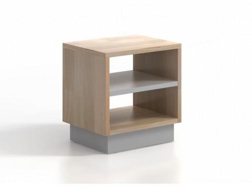 Nočný stolík z bukového a borovicového dreva SKANDICA Finn