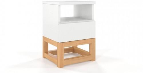 Nočný stolík z masívneho borovicového dreva SKANDICA Karin