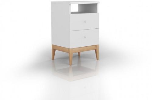 Nočný stolík z masívneho borovicového dreva SKANDICA Livia 2S Plus
