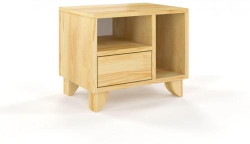 Nočný stolík z masívneho borovicového dreva SKANDICA Viveca