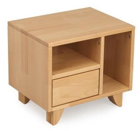 Nočný stolík z masívneho bukového dreva SKANDICA Viveca