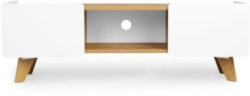 TV komoda s 2 zásuvkami z dubového dreva SKANDICA Lett