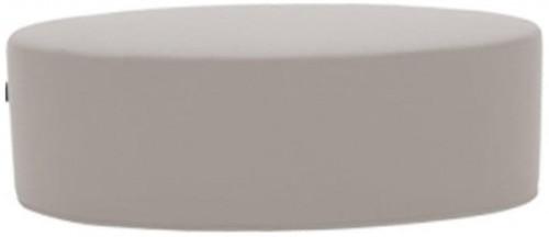 Svetlobéžový puf Softline Bon-Bon Eco Cotton Sand, dĺžka 60 cm