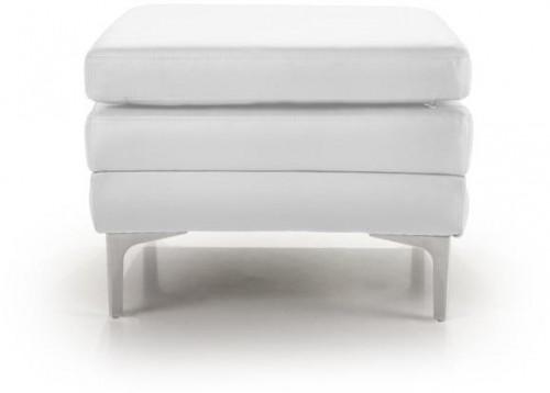 Biela kožená lavica Softnord Twigo