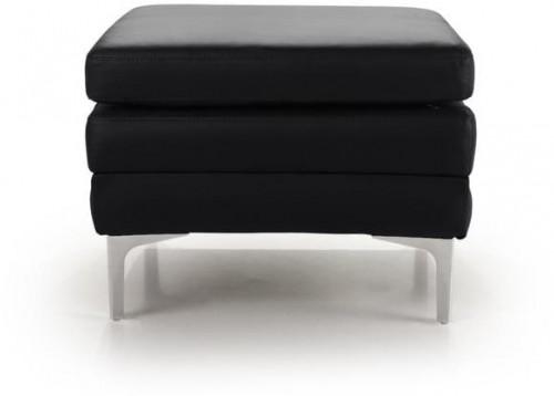 Čierna kožená lavica Softnord Twigo