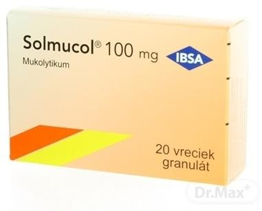 Solmucol 100 mg gra (vrecúška) 20x1,5g