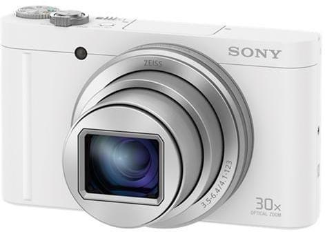 Fotoaparát Sony DSC-WX500, 18,2Mpix, 30xOZ, FullHD, WiFi, biely DSCWX500W.CE3