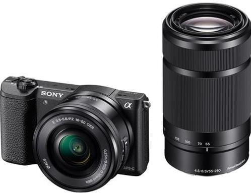 Sony A5100Y, 16-50 + 55-210mm, 24,3Mpix, čierna ILCE5100YB.CEC
