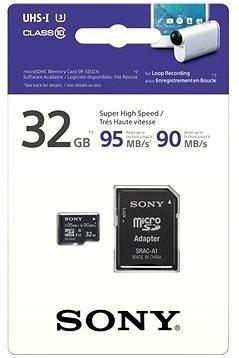 Sony MicroSDHC 32GB Class 10 UHS-I + SD adaptér