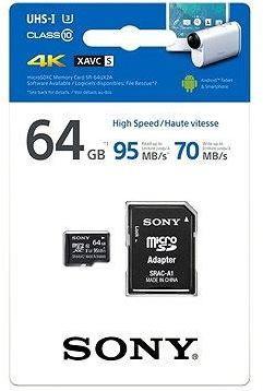 Sony MicroSDXC 64GB Class 10 + SD adaptér