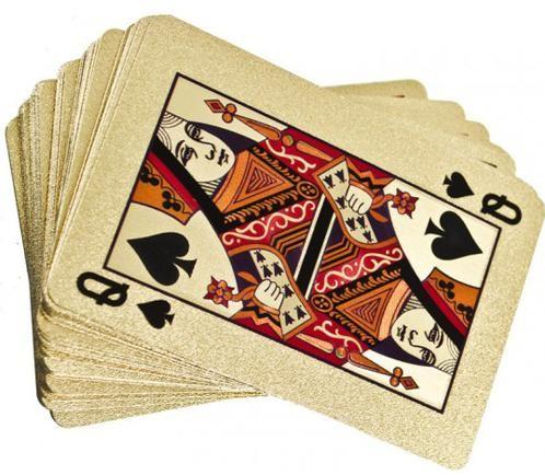 Plastové hracie karty - zlaté