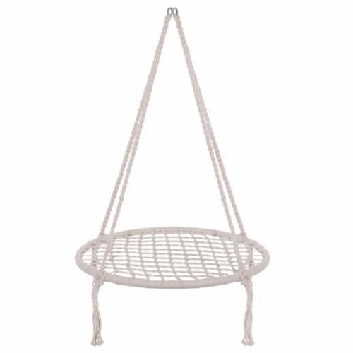 Springos Hojdací kruh bocianie hniezdo 80cm - béžová