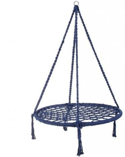 Springos Hojdací kruh bocianie hniezdo 80cm - modrá