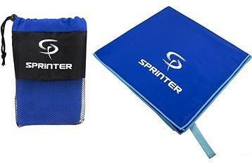 Sprinter - ručník z mikrovlákna 100 × 160 cm - modrý