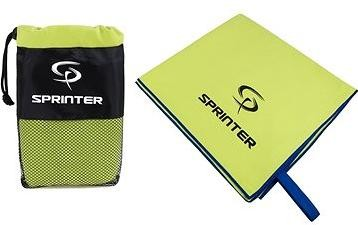 Sprinter - ručník z mikrovlákna 100 × 160 cm - zelený