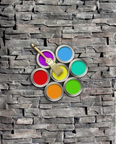 STAMP SET 3 farieb na obklad STAMP® Lámaný kameň - čierna 010A + biela 1000 + hnedá 140A - set 3 kg